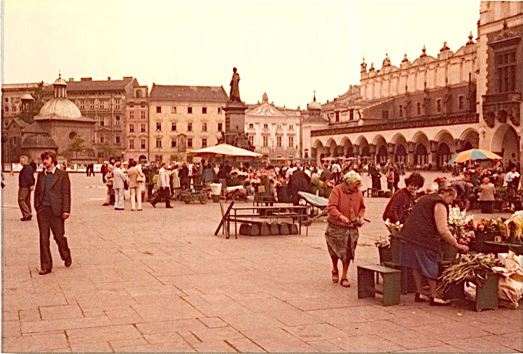 Cracow, old town, 1978. John & I were still students when we took this trip to Poland.