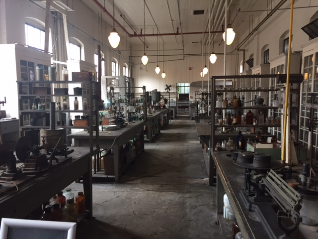 Edison's chemistry lab at his S. Orange, NJ Industrial Lab, now a US Historic site