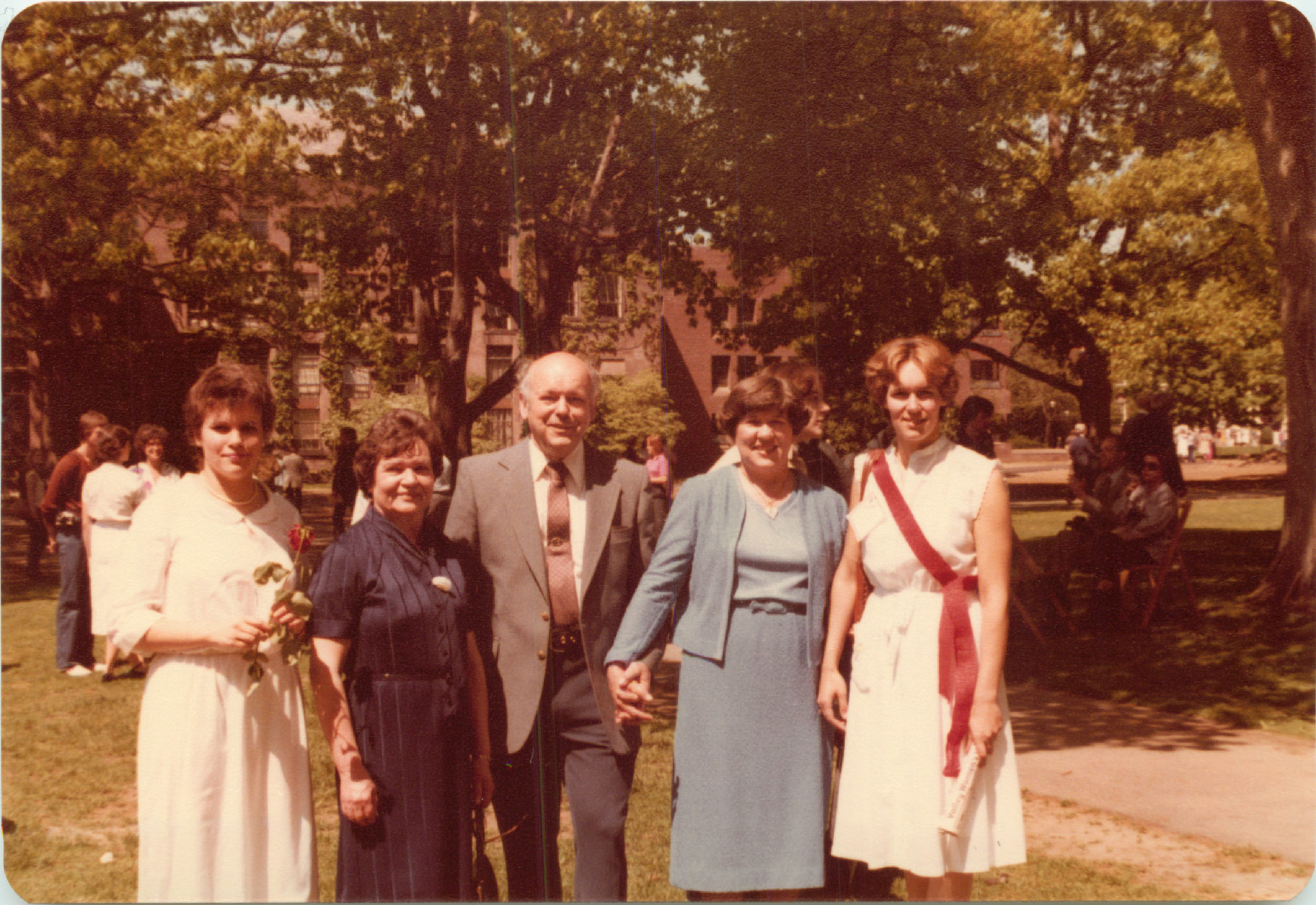 Celeste, Aunt Mayme (Eleanor's sister), Al, Eleanor, & Lorraine at her 10th anniversary , graduation from Smith College