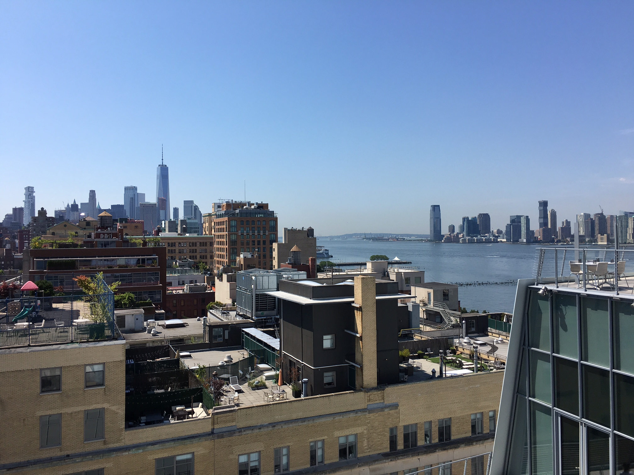 view from the Whitney Museum  7-31-2017