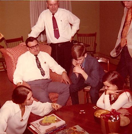 Janet, Ed Bogden, Albert, Eddie Bogden, & Celeste, Xmas, 1970
