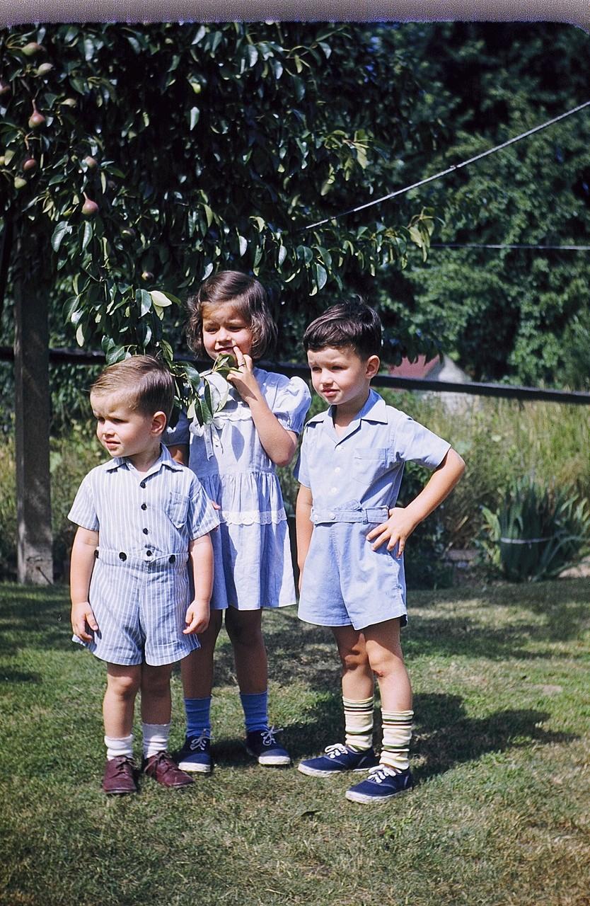 Bobby, Kathy, & Bill Gudas (Jay & Helen's children)  ~1952
