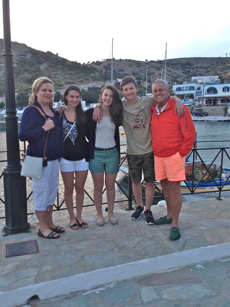 Celeste, Ellie, Kate, Jack, & Stuart Sr. Greece, 2014