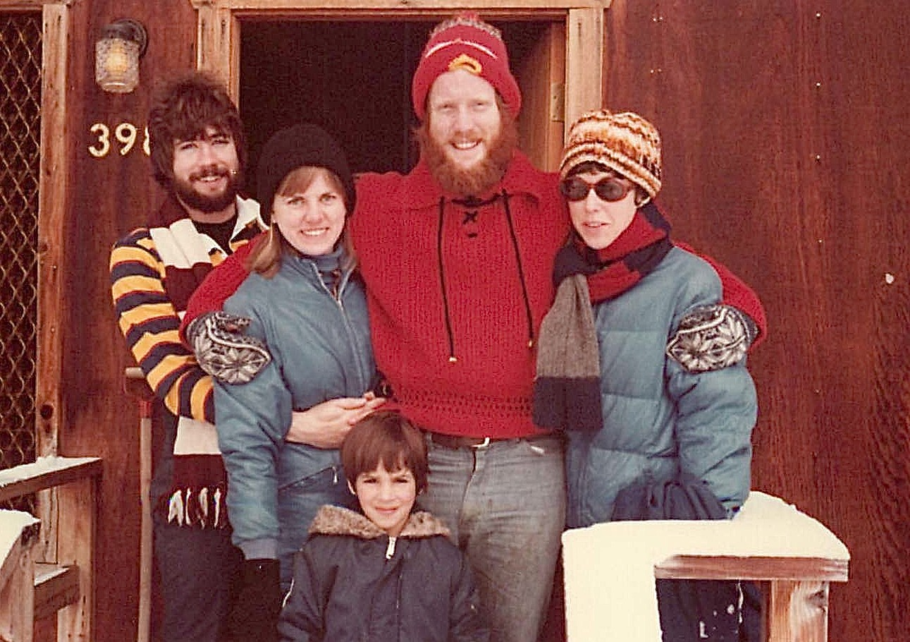1978, Martin lab ski trip to Homewood, Tahoe; John Wagner, Shirley Clift, Udi, Buddy, & Barbara Levinson