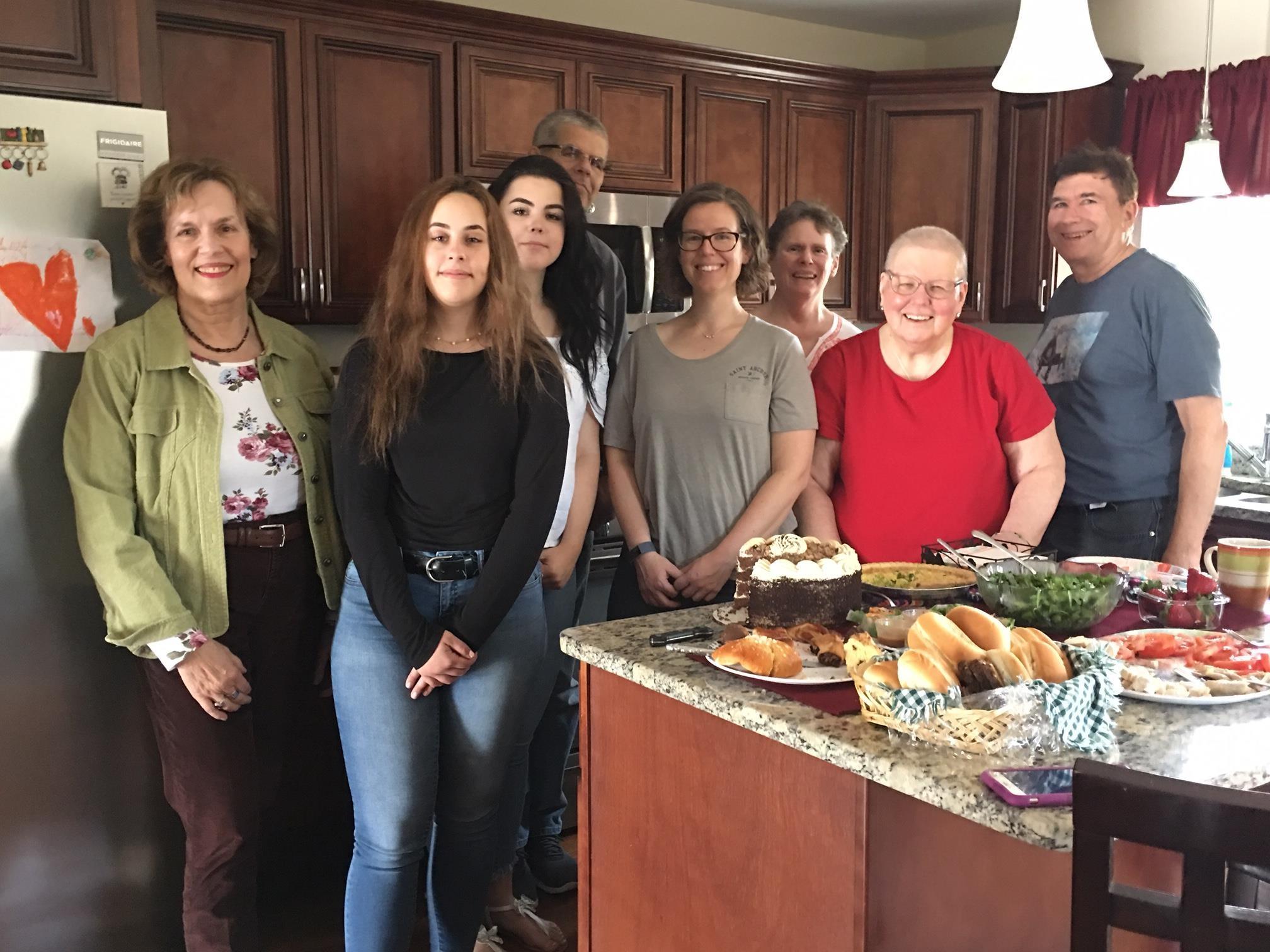 Lorraine, Kayla, Caitlin, Jim, Meghann, Jane, Margaret, John, RI  April, 2019