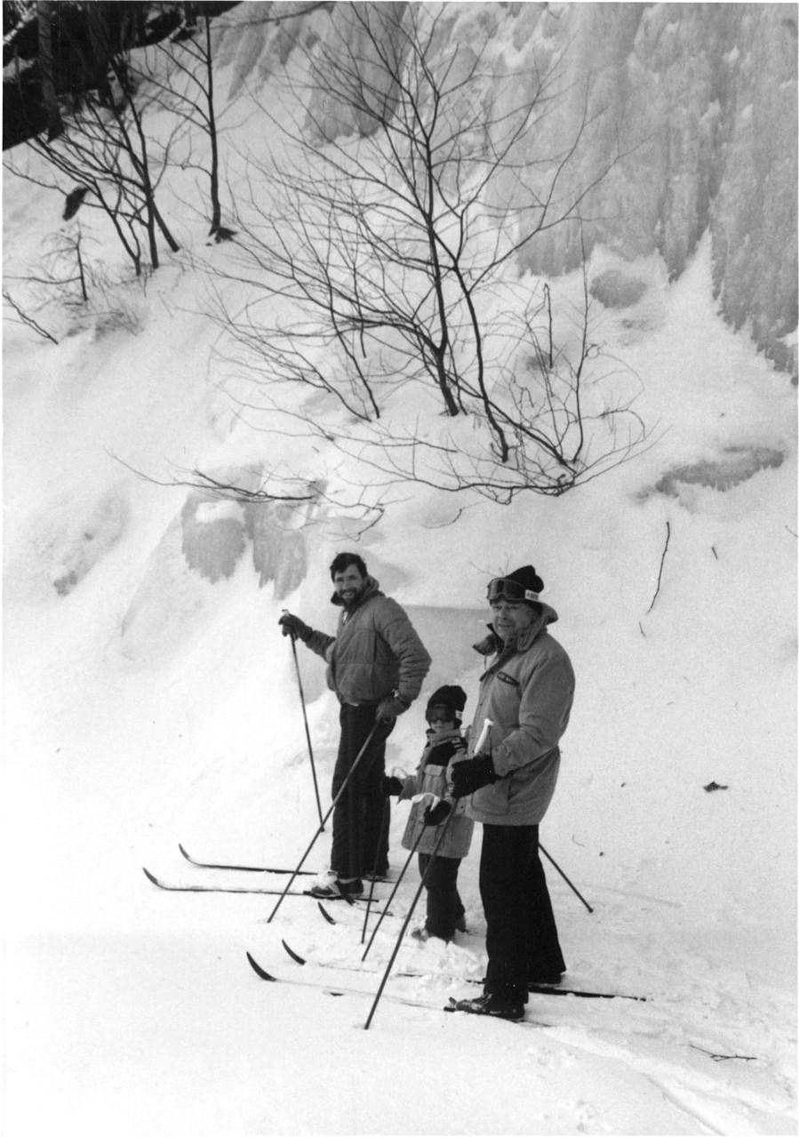Cross-Country Skiing, 1988, Smuggler's Notch, Vermont  John Wagner, Greg Wagner, Al Gudas