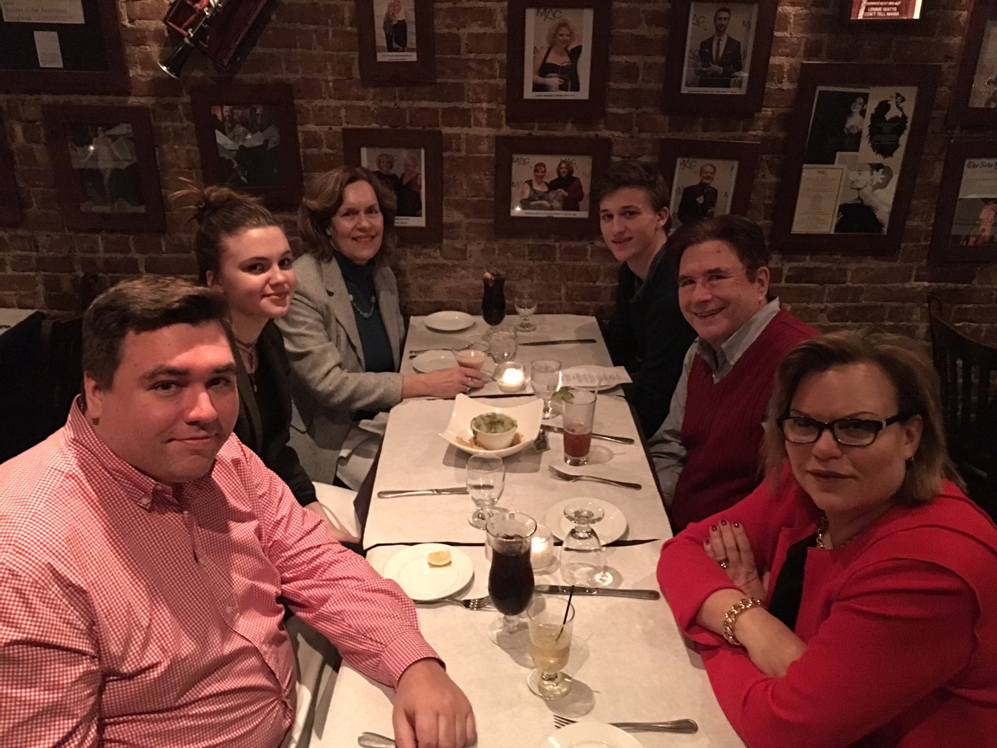"Greg, Kate, Lorraine, Jack, John, & Celeste at Kate & Jack's  ""early"" Bday dinner  Feb. 6, 2018"