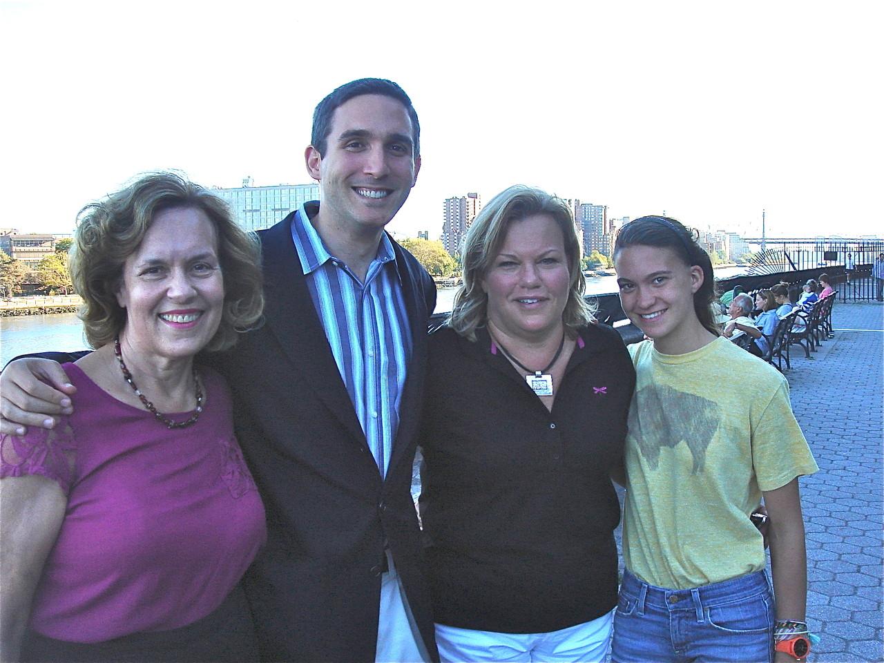 Lorraine, Ben Kallos, Celeste, & Ellie Kagel, Carl Schurz Park, Oct. 2013