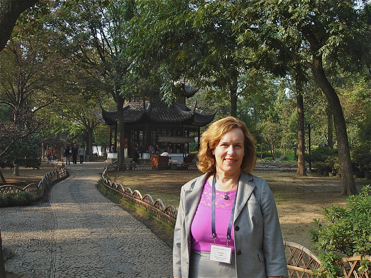 Lorraine at the Humble Administrator's Garden