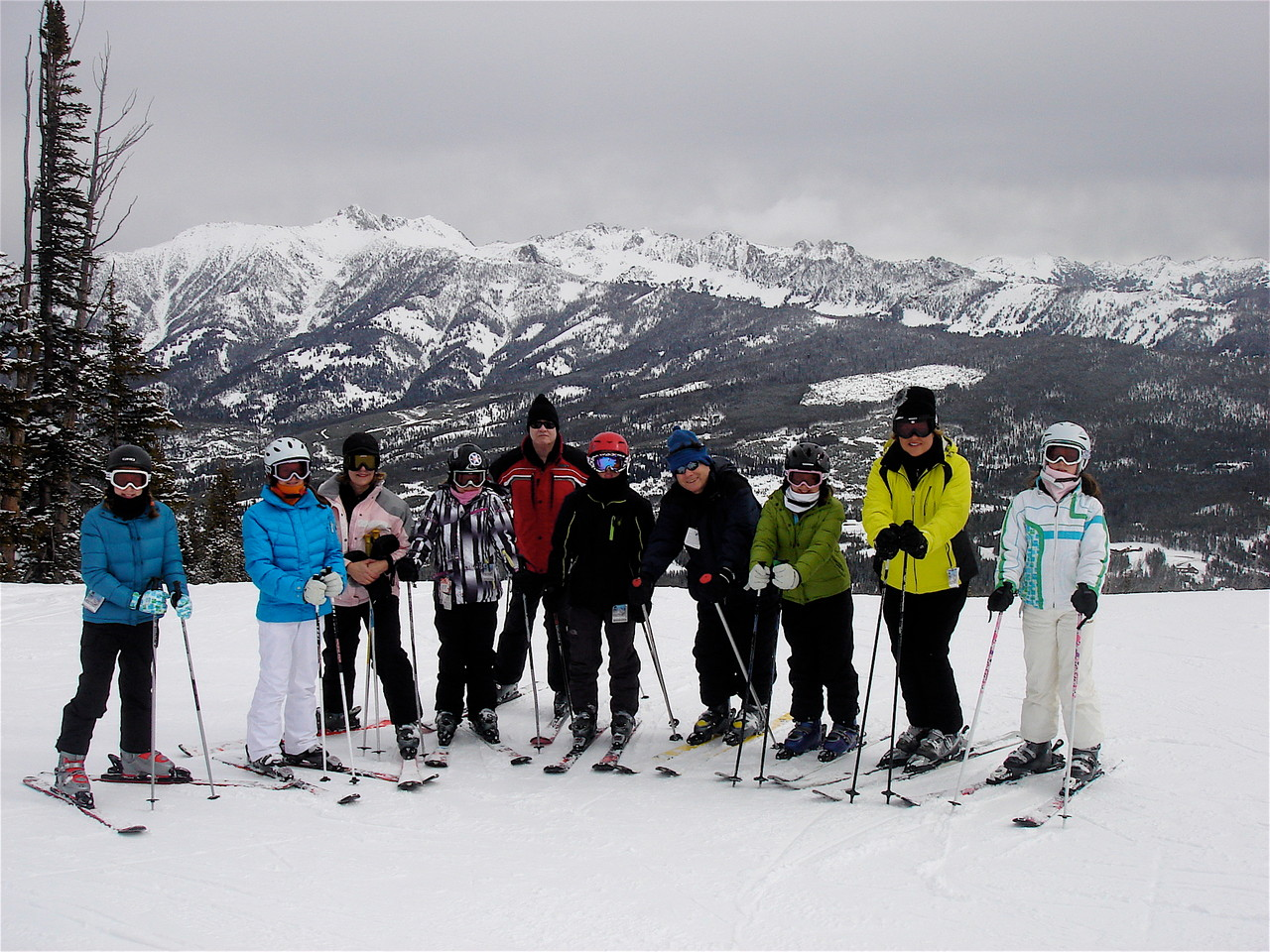 2011 Skiiers at Big Sky, Montana
