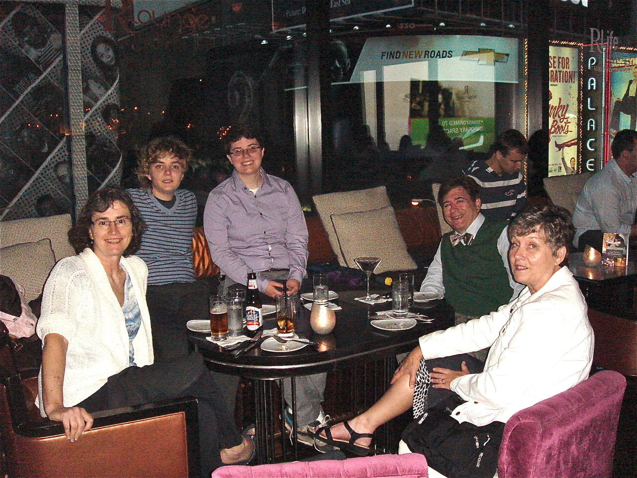Ann, Kathleen, Emilea, John, & Cindy, dinner in Times Square 6-13-2013