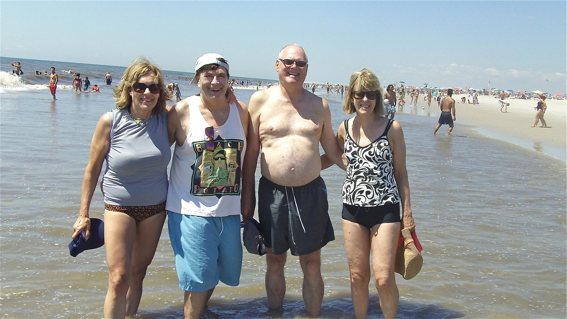 Lorraine, John, Bernd & Nancy, Jones Beach, LI