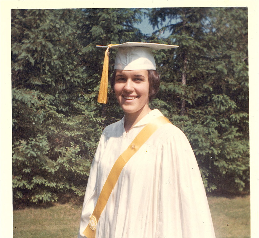 Lorraine, graduation from the Convent School, Syracuse, NY