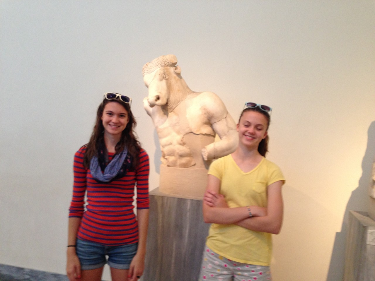 Ellie & Kate, Museum in Athens, Greece