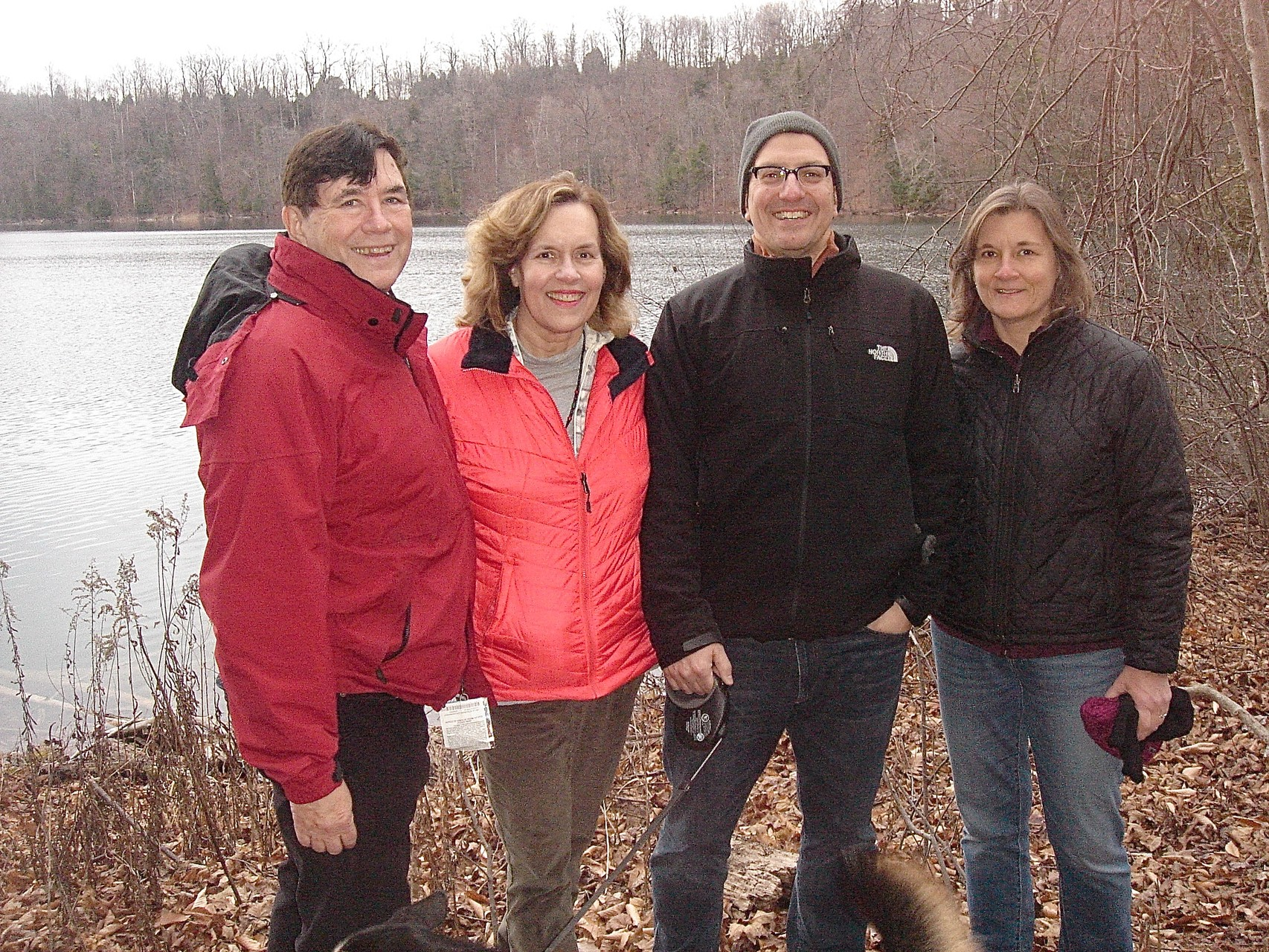 John, Lorraine, Nick & Cyndi walk around Green Lakes, 12-2