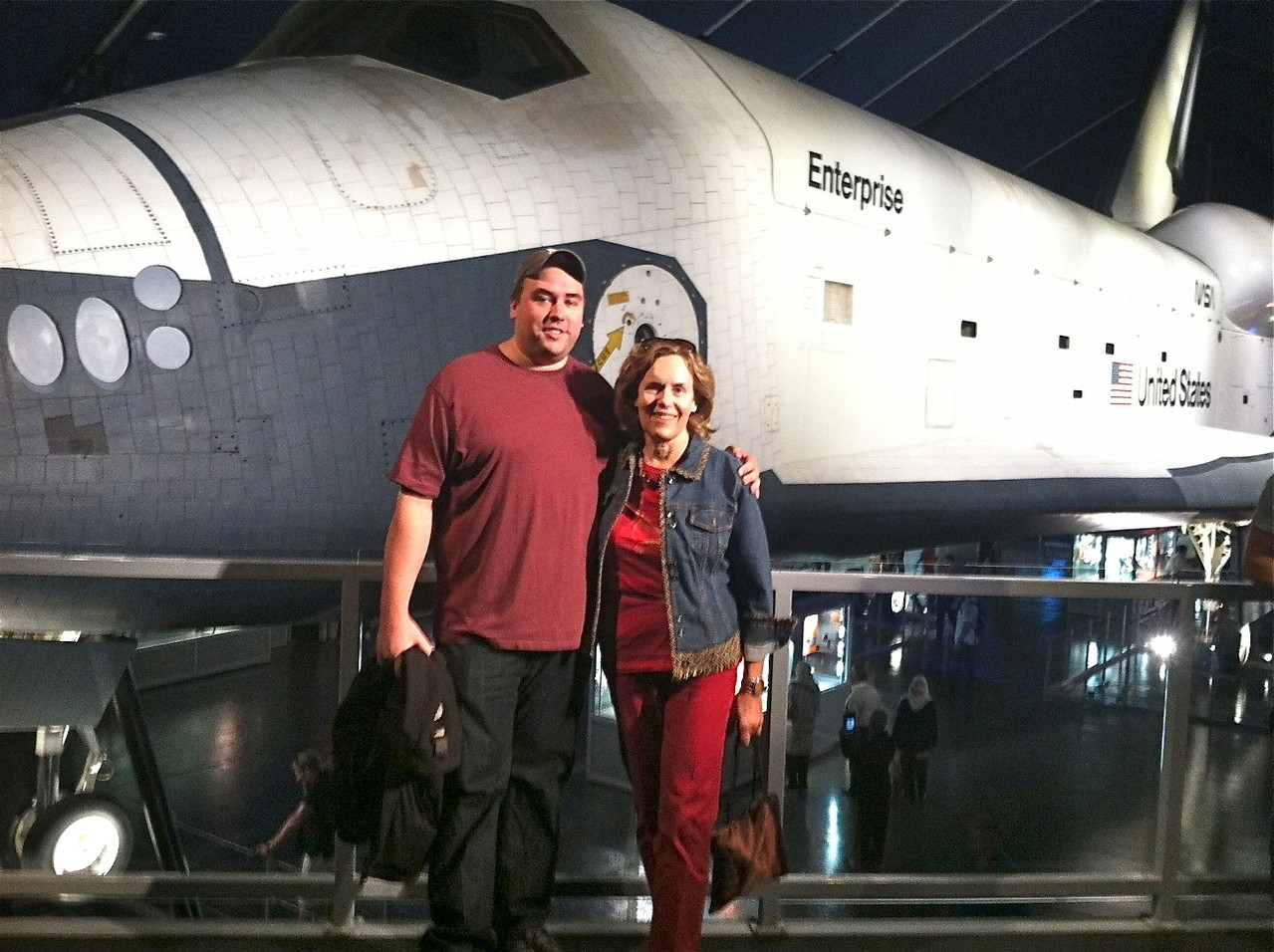 Greg Wagner & Lorraine, Enterprise space shuttle, Sept. 2013, NYC