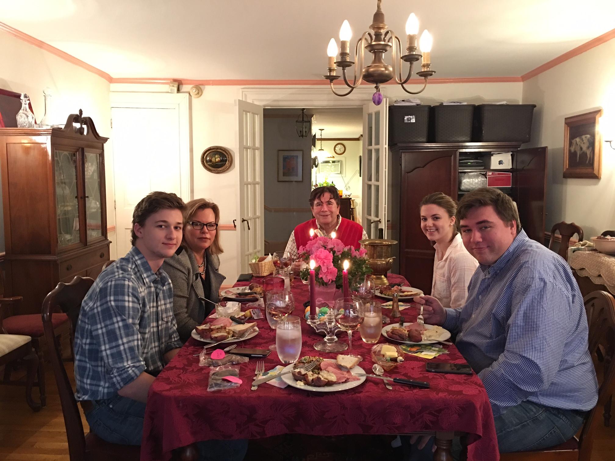 Easter Dinner, April 1, 2018