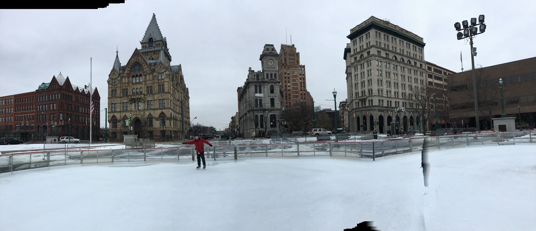 John skating at Clinton Square, Syracuse, Feb 21, 2016