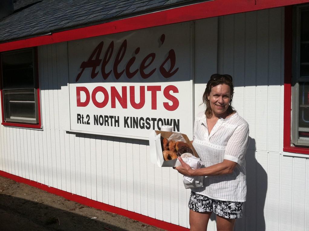 Lorraine loves Allie's Doughnuts! Rhode Island 7-2012