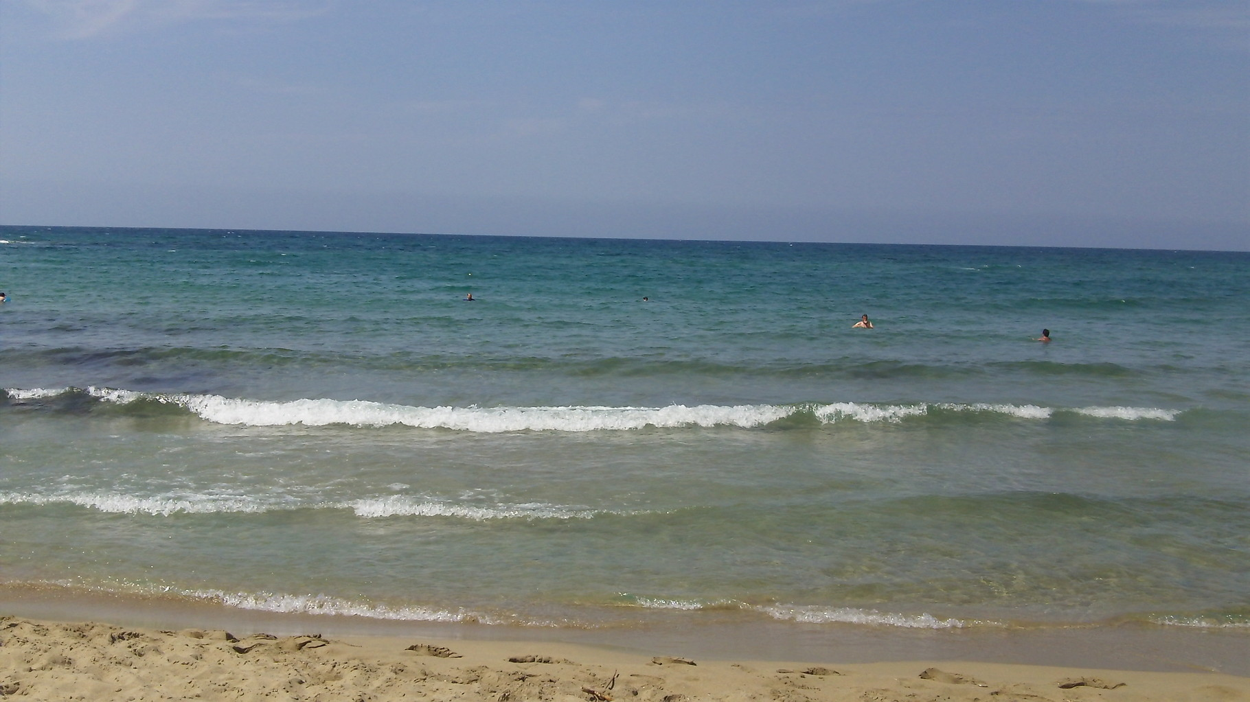 beach near Malia, Crete..first time John & I swam in the Mediterranean Sea