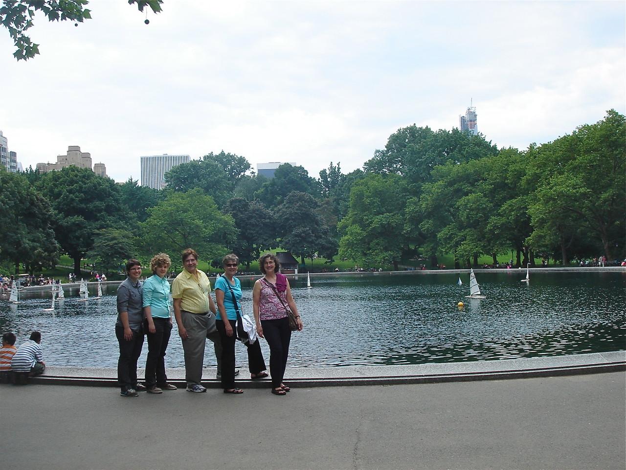Central Park,  Emilea, Kathleen, John, Cindy, & Ann