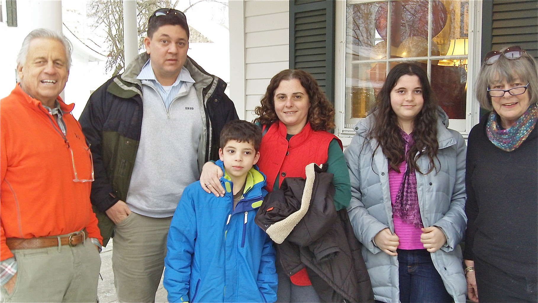 Stuart Kagel (Birthday Boy!), Bevin, Louis, Ani, Isabelle Cherot & Kathy (Kagel) Hutchins
