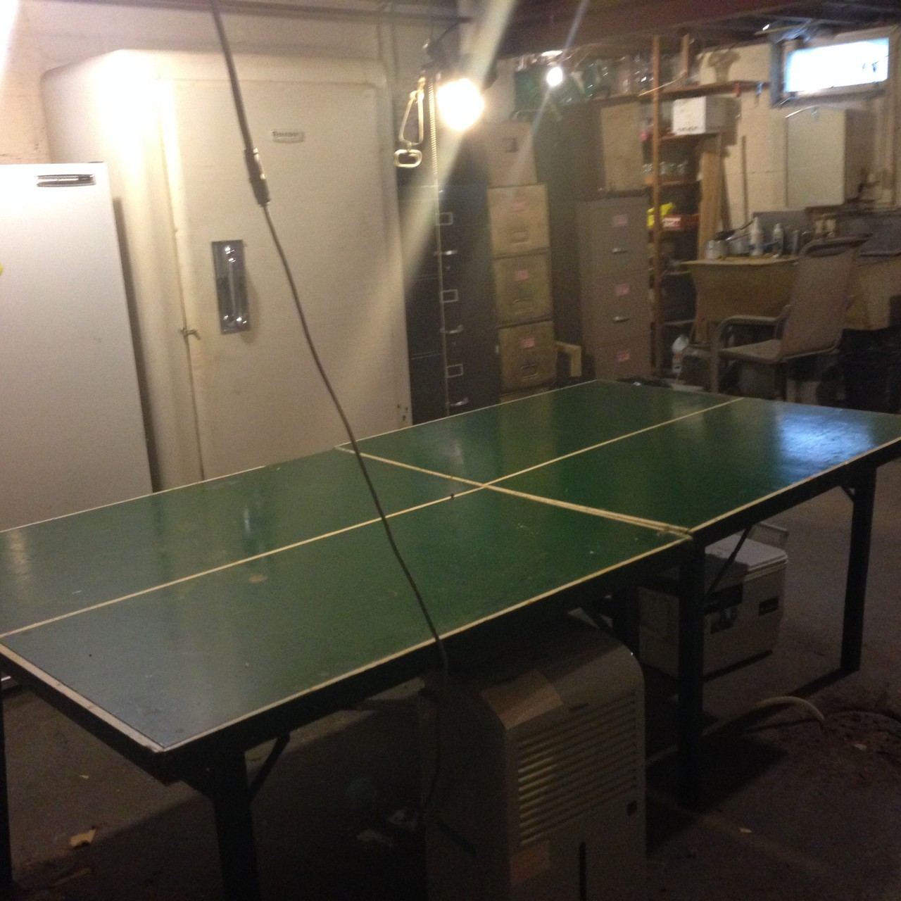 Cleaning the basement in Syracuse, the ping pong table appears! Nov. 2014