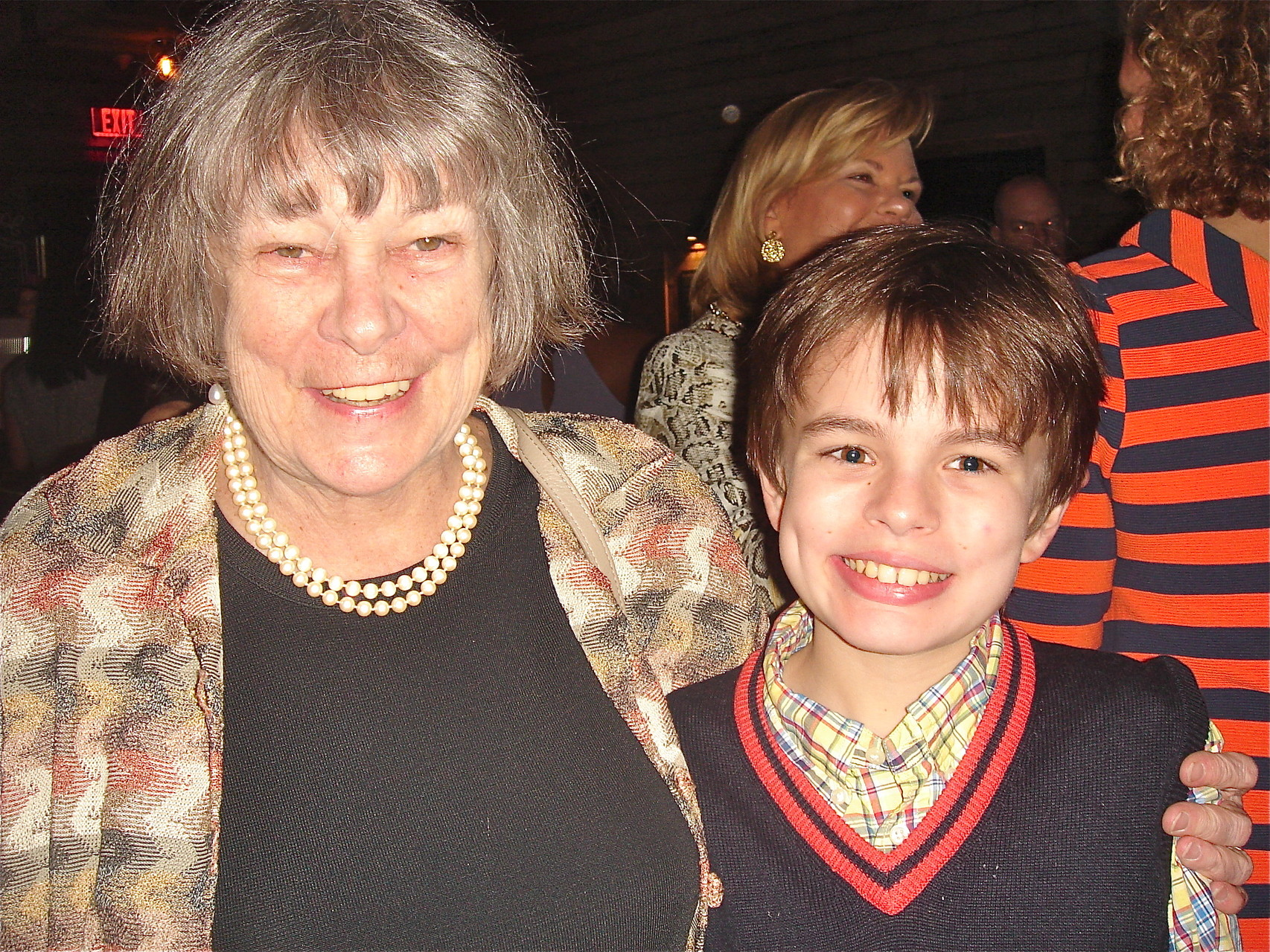 Kathy Hutchins, Stuart Sr's sister, & grandson Philip
