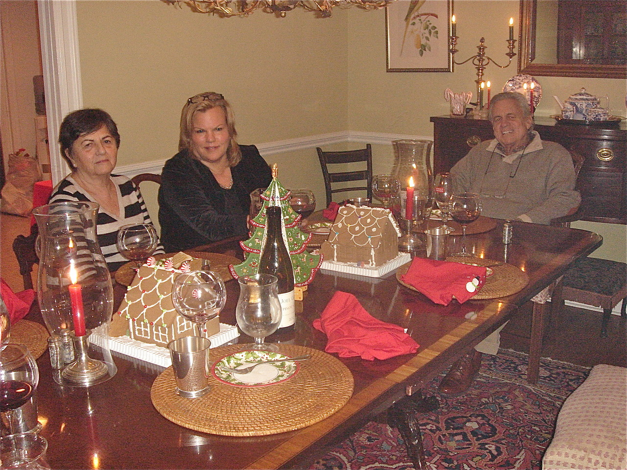 Beatrice, Celeste Gudas, & Stuart Kagel Sr. at Xmas Day Dinner, Kagel residence!
