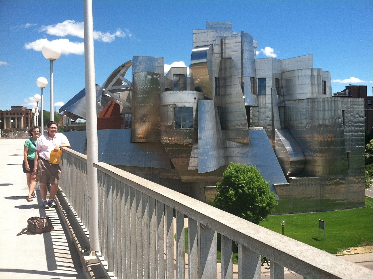 John & Ann, Weisman Museum on the univ. campus, Frank Gehry designed structure.