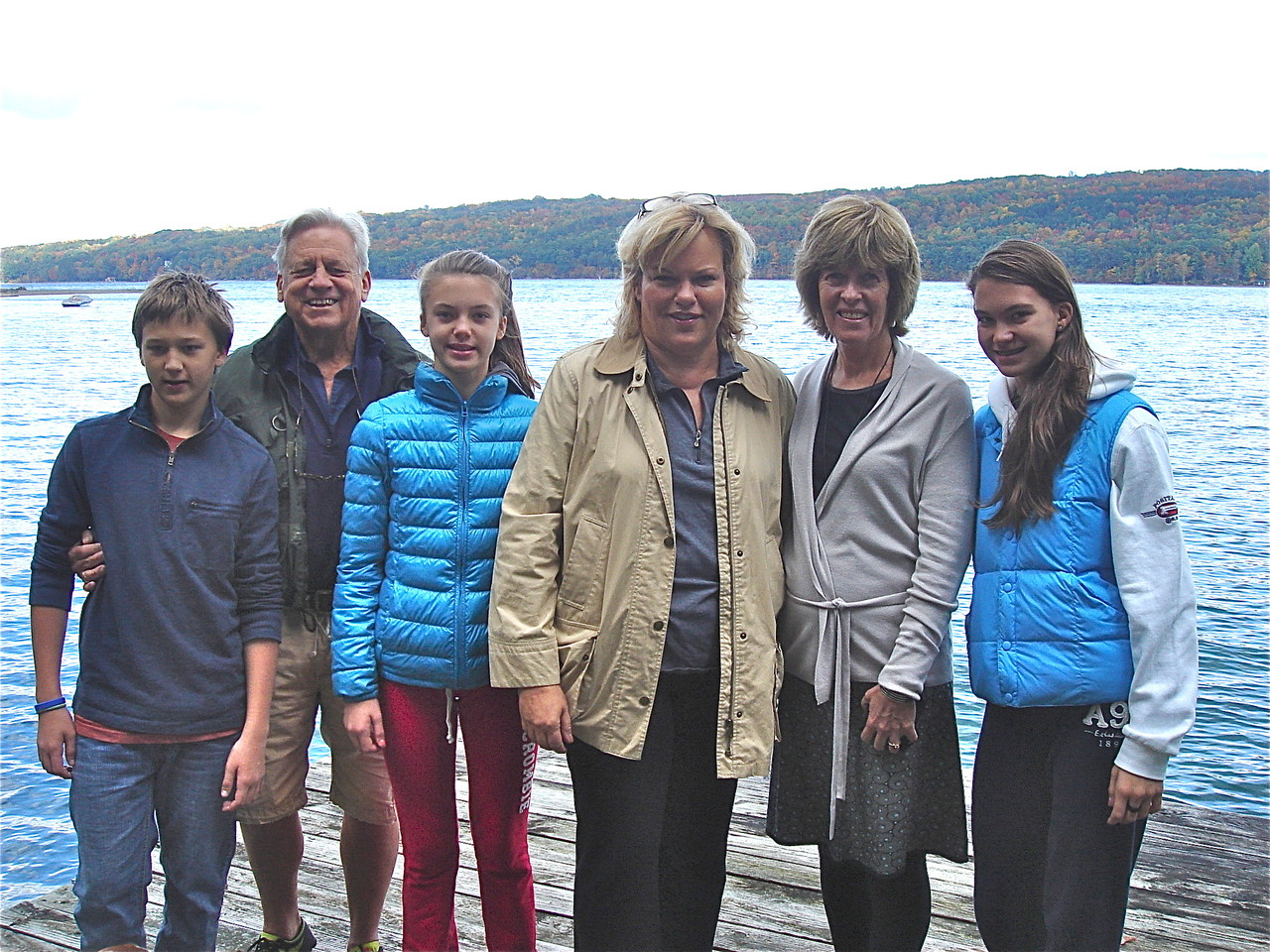 Jack, Stuart, Ellie, Celeste, Nancy, & Ellie  Skaneateles Lake, Oct. 2012