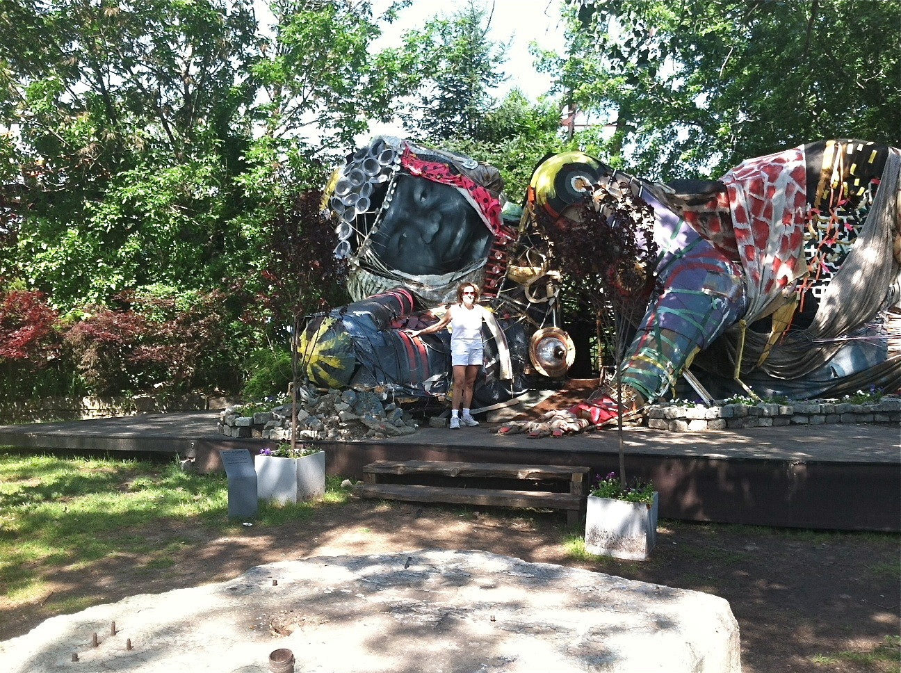 Father's Day Bikeride, June, 2014  Socrates Sculpture Park, Queens