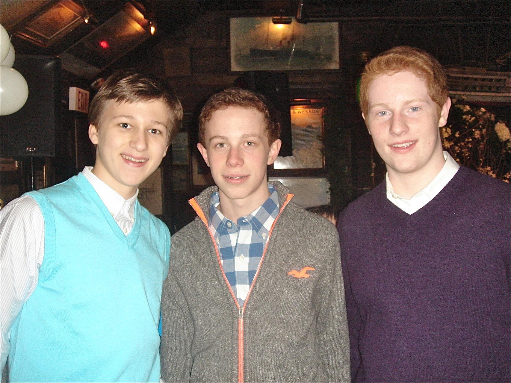 Jack, Liam, & Noah Kagel