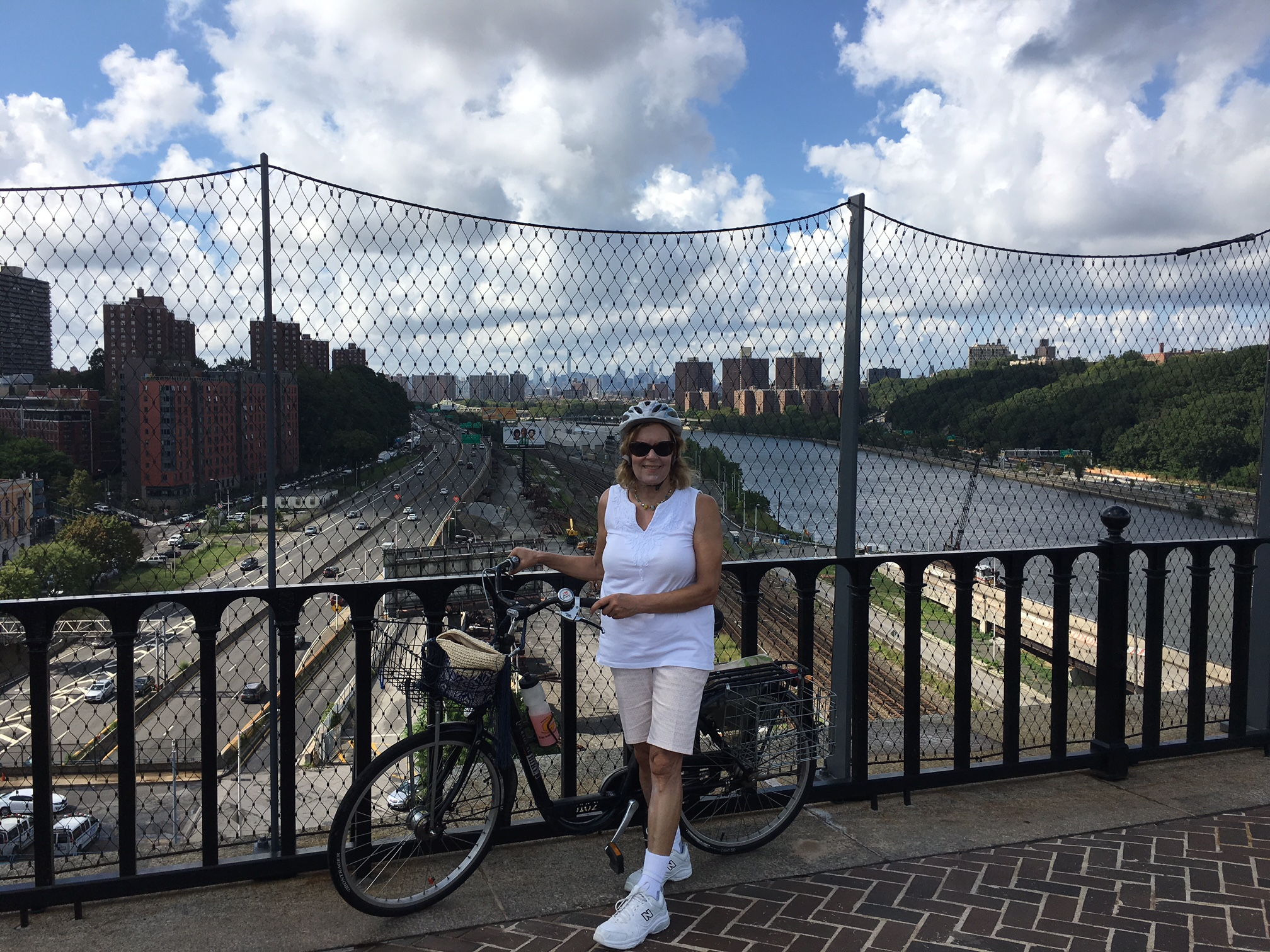 Lorraine on the High Bridge-this used to be an aqueduct carrying water to NYC