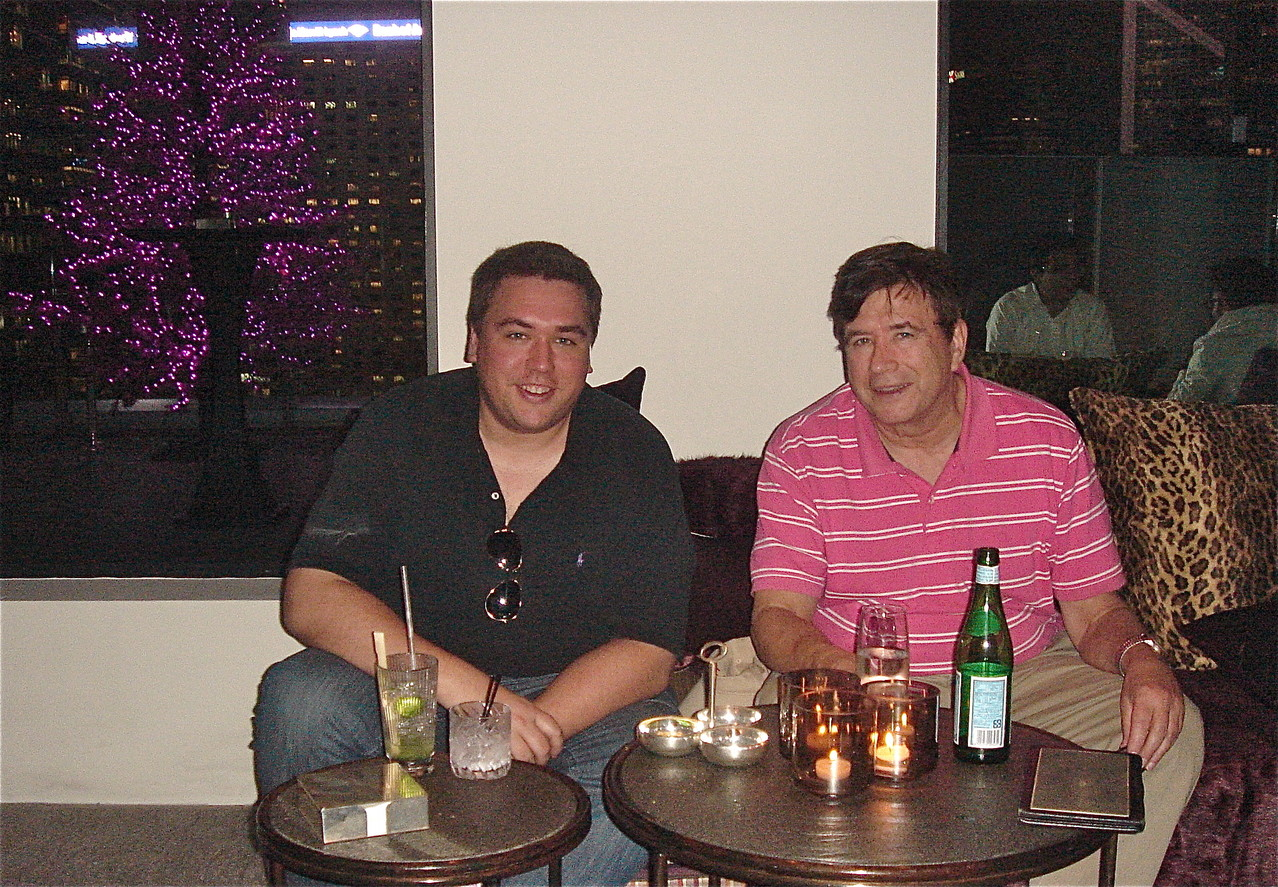 Greg & John relax at Sevva, HK