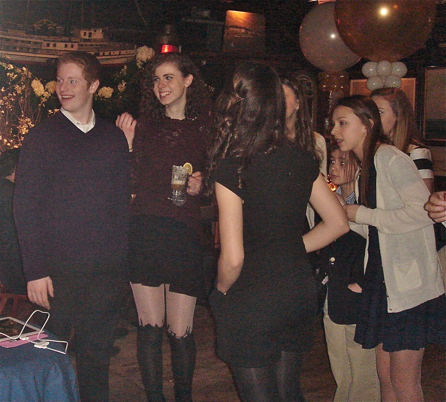 Noah, Erin, Kate (back to camera) & Gabby Kagel