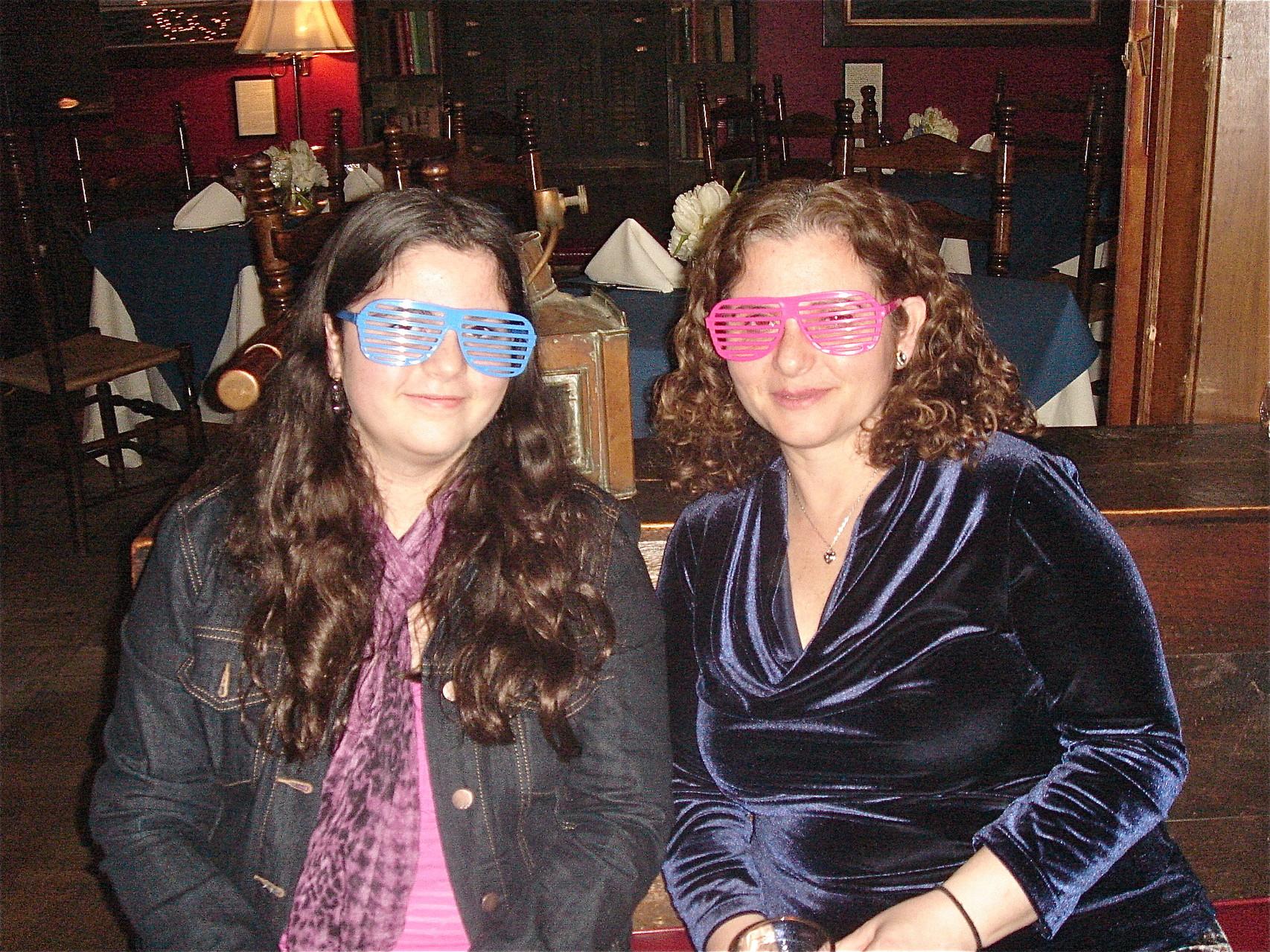 Isabelle & Ani Cherot enjoy the evening
