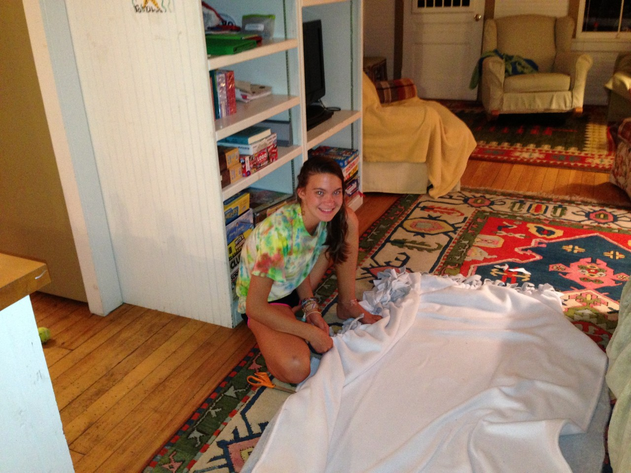Ellie makes a blanket like Cindy Wagner's