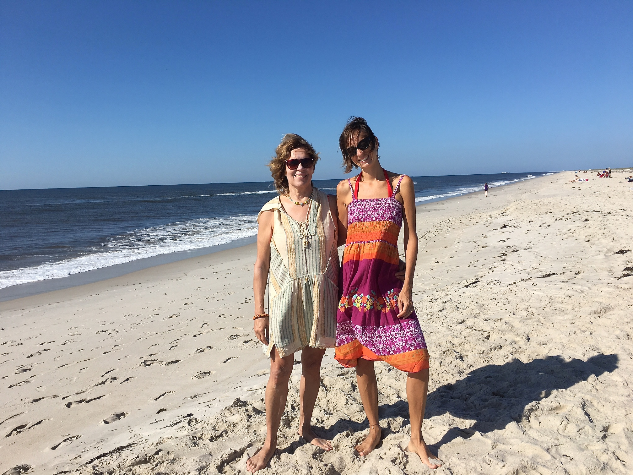 Lorraine Gudas & Jill's daughter Ana at Jones Beach  8-20-17