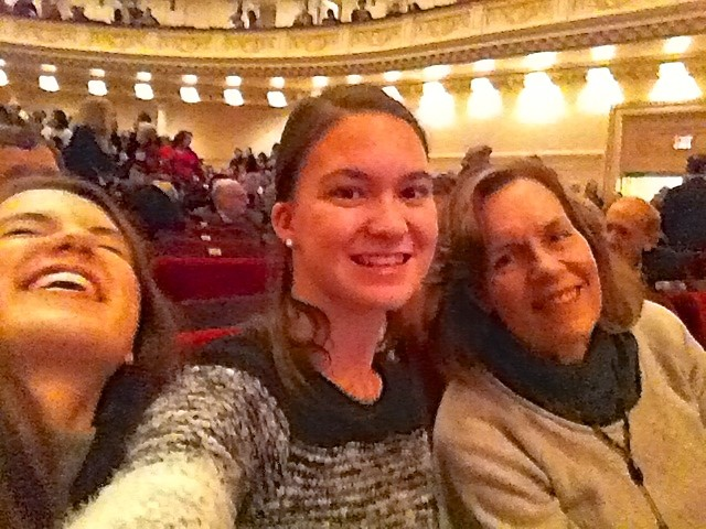 Kate, Ellie, & Lorraine at the NYC Pops Concert at Carnegie Hall, 12-19-15