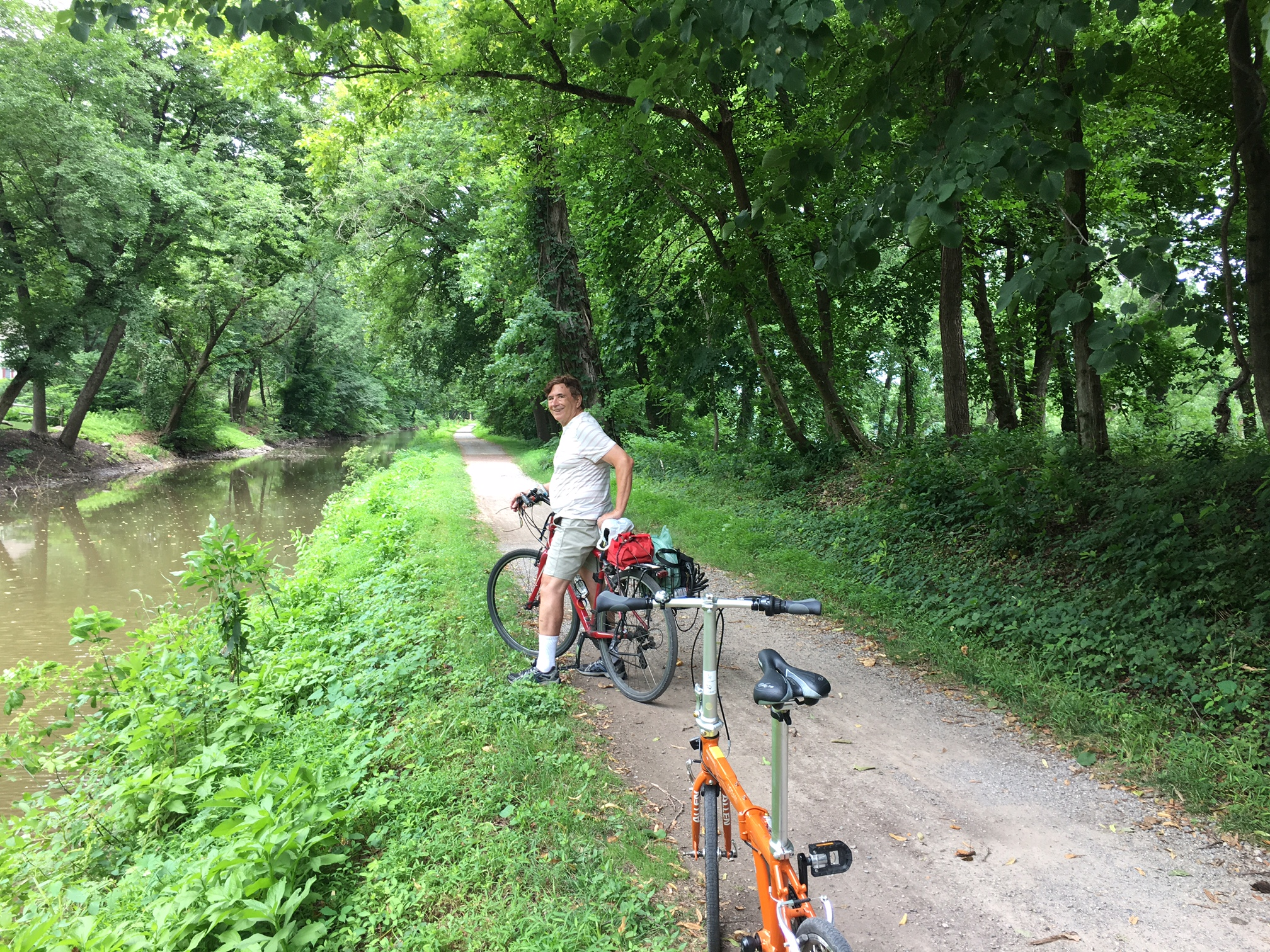 biking along the Delaware River near New Hope, PA