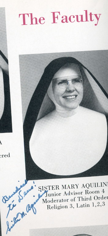 Sister Aquiline, Latin teacher