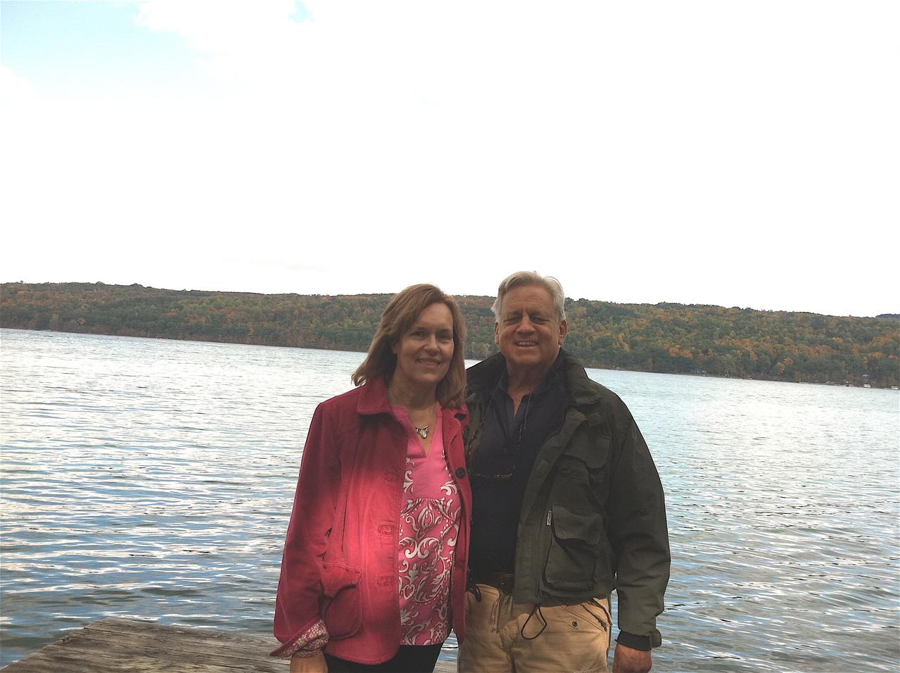Lorraine & Stuart, Oct. 6, 2012 Skaneateles Lake
