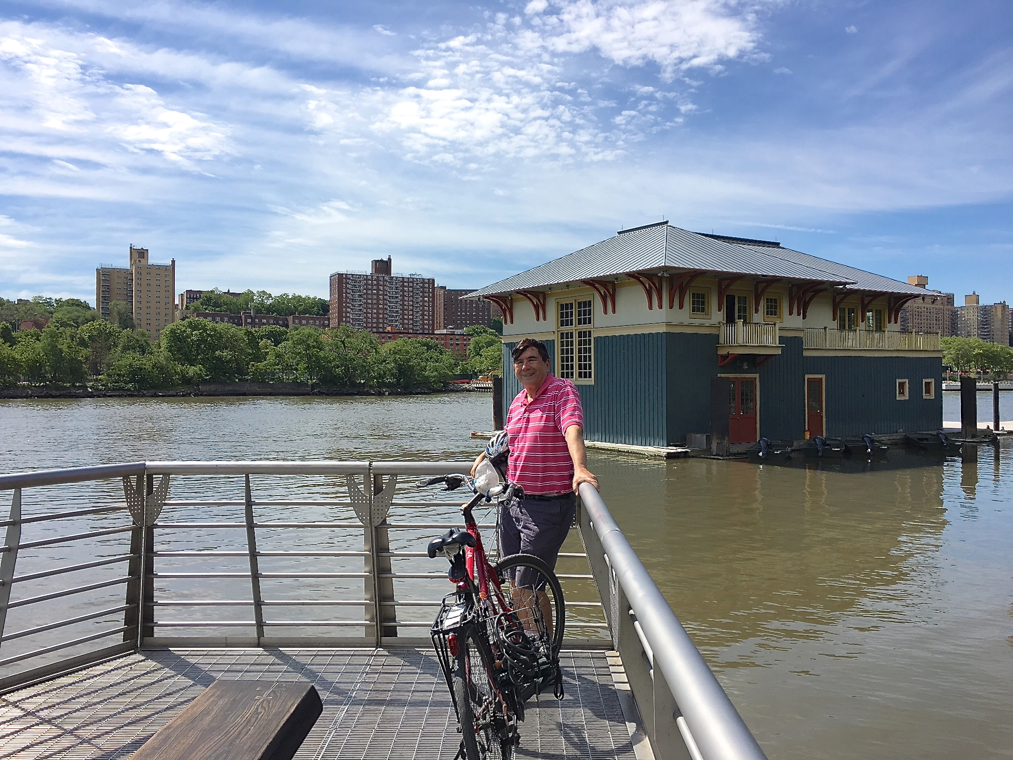 John along the Harlem River, 6-4-17