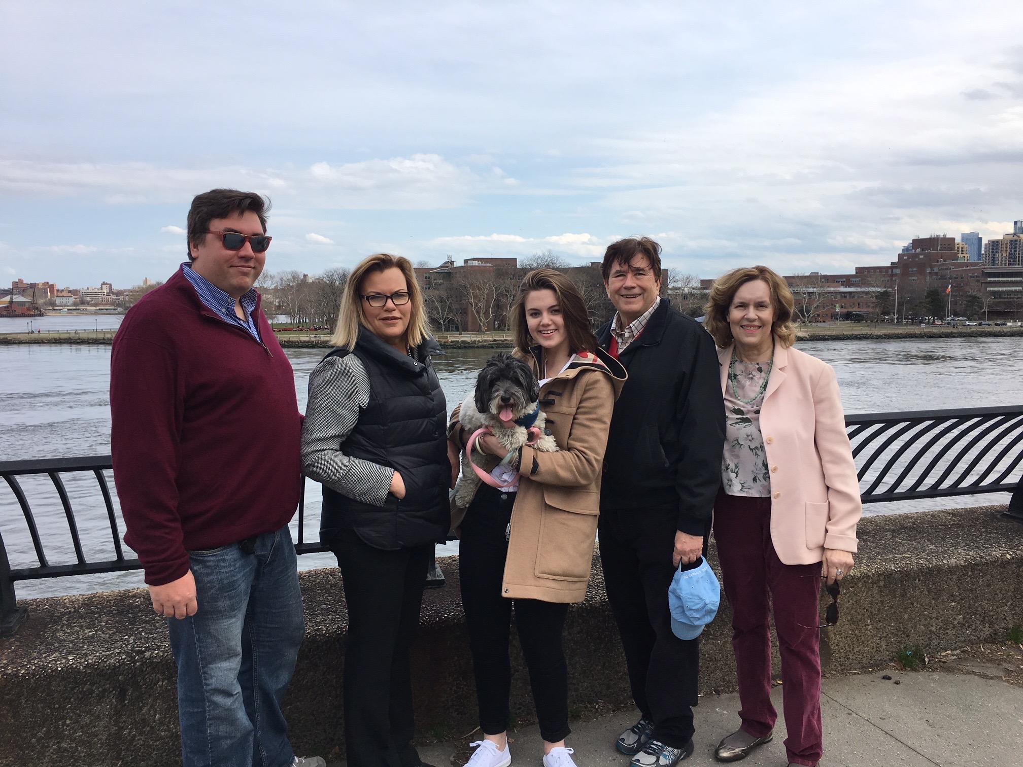 Greg, Celeste, Kate, John, & Lorraine Easter, 2018
