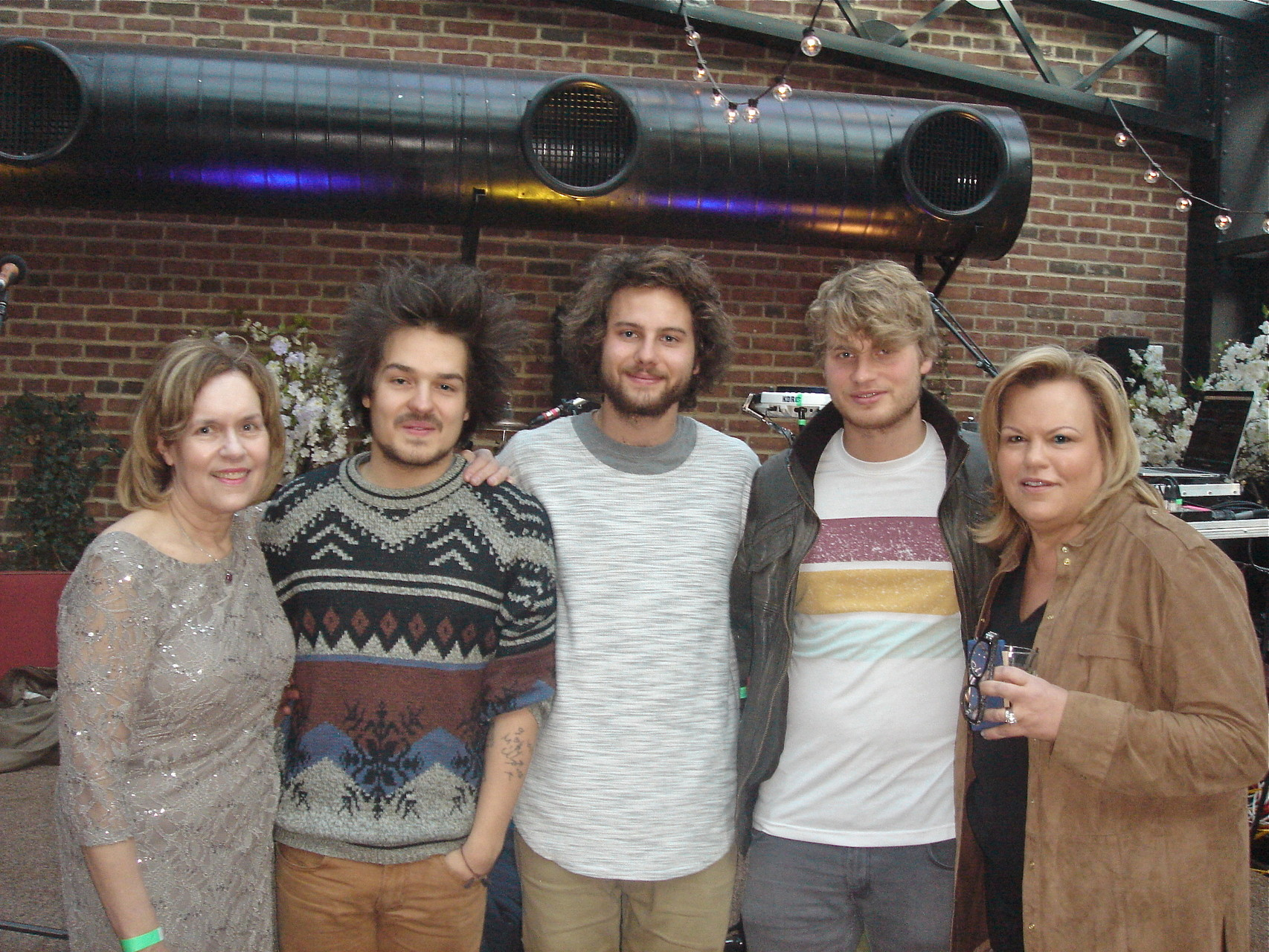 Lorraine & Celeste with Ellie's favorite band, Milky Chance