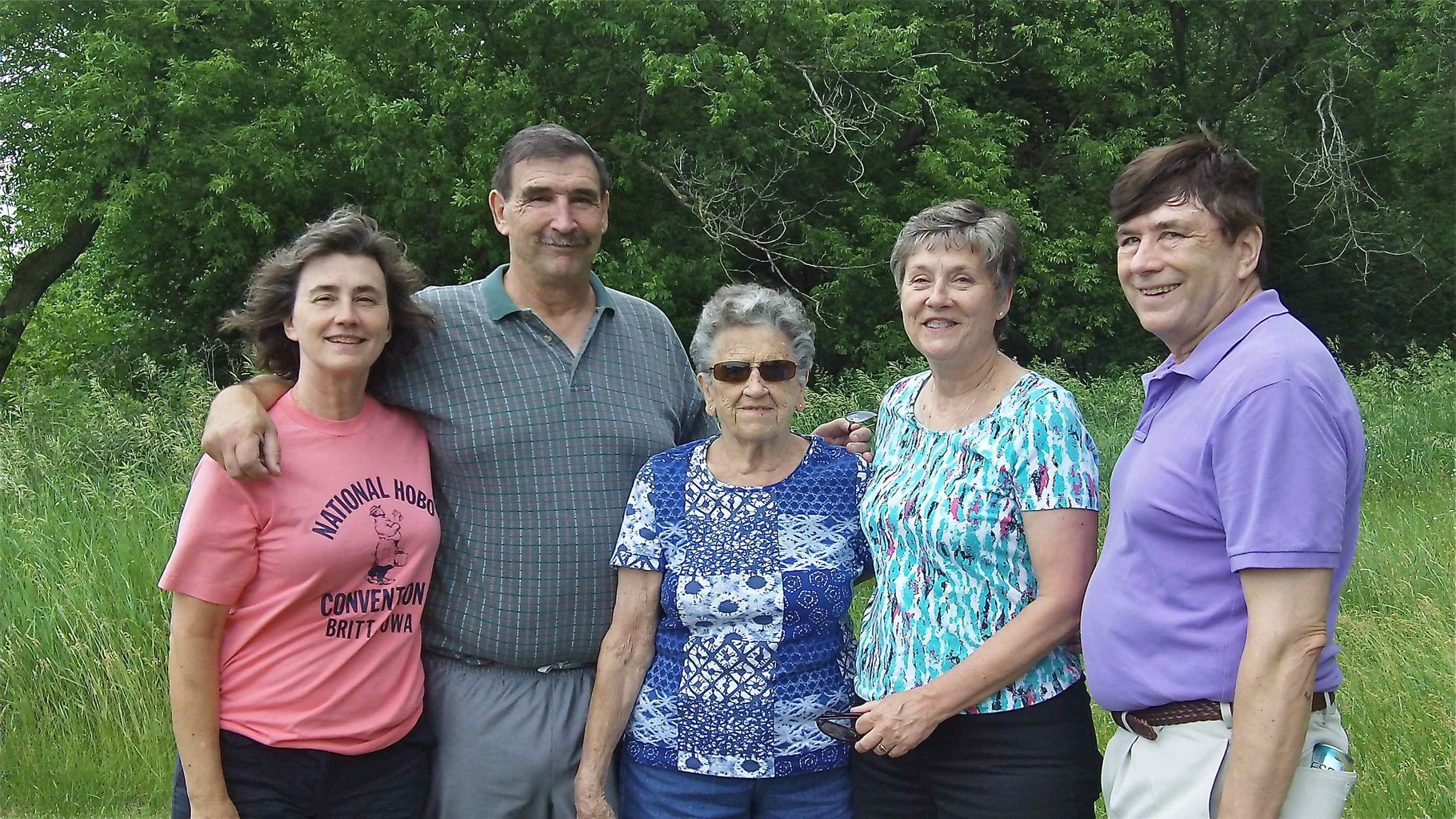 Ann, Paul, Mary Lou, Cindy, & John Wagner July, 2014, by the Mississippi River