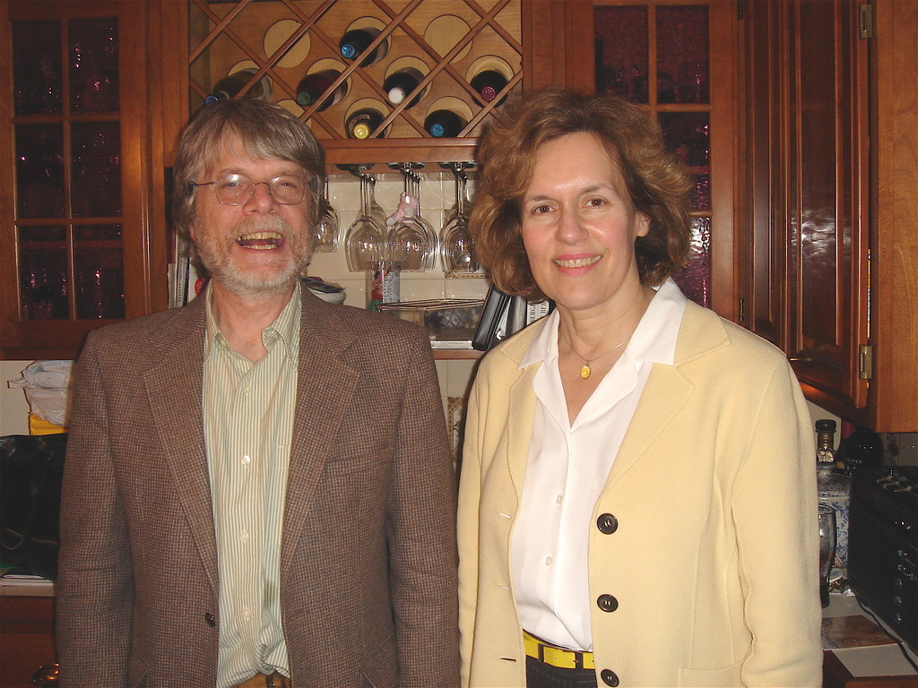 Steve Carlson about 2003? with Lorraine Gudas NYC