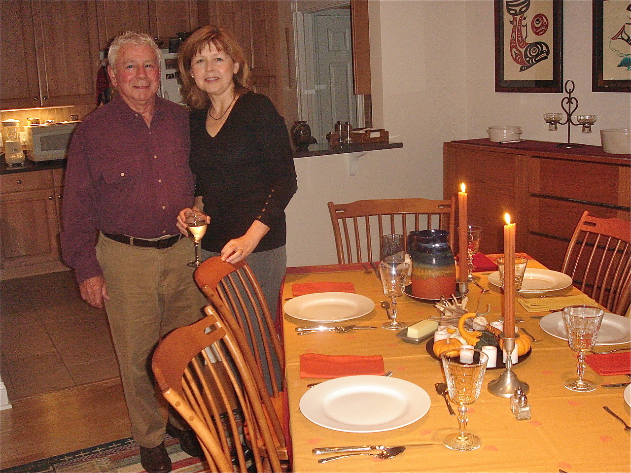 Don & Barbara before dinner at their home