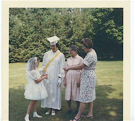 Celeste, First Communion, Lorraine Gudas, Graduation, Stephanie Bogden, Eleanor Bogden Gudas